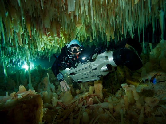 """National Geographic Live! presents this daredevil environmental anthropologist and cave diver, who will discuss his adventures researching environmental issues and showcase images and videos captured from the beautiful and dangerous """"blue holes"""" in the Bahamas."""