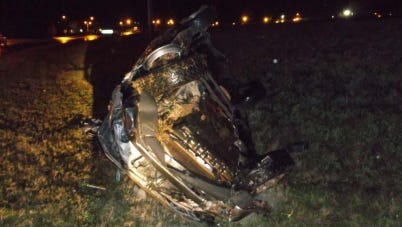 Two LCSO deputies pulled a woman from her burning car Friday morning.