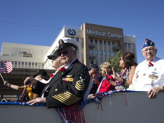 The WWII Veteran's float in the Phoenix Veteran's Day parade in 2014.