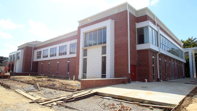 Construction continues on the new student union Friday, October 10, 2014, on the UL campus in Lafayette, La.
