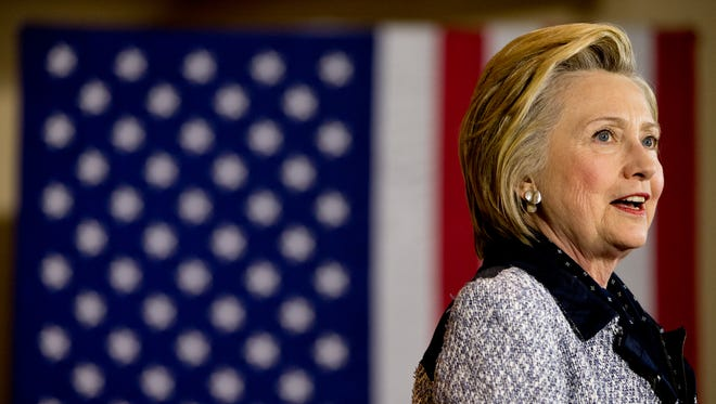 Hillary Clinton speaks at a rally at the International Brotherhood of Electrical Workers Circuit Center in Pittsburgh on June 14, 2016.