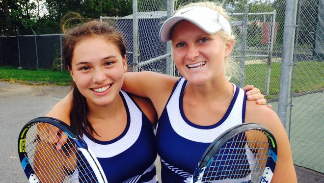 Roberson's Audrey Chor, left, and Nicole Broeffle.