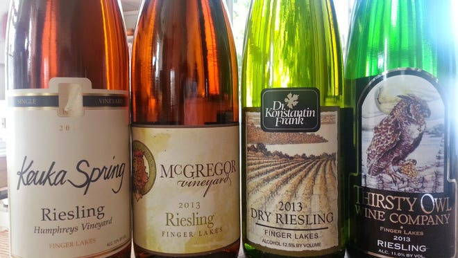 Four rieslings were tasted by Debbie Gioquindo at a Finger Lakes Riesling Release party.