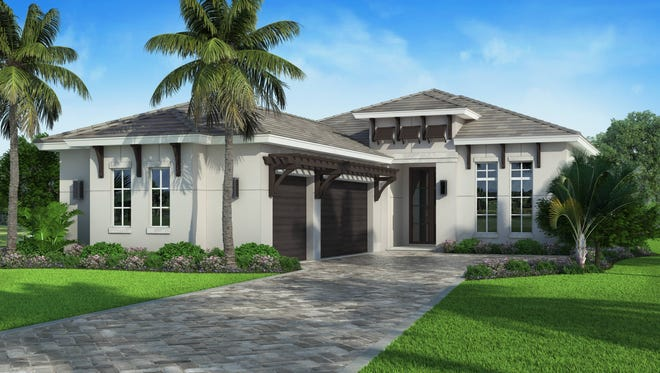 The Senza model by Divco Custom Homes is nearing completion in Miromar Lakes Beach & Golf Club.