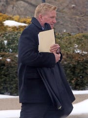 Carl Immich arrives to the U.S. Southern District Court of New York in White Plains on Feb. 13, 2017, for his sentencing where he has pleaded guilty to embezzling money. Immich was the property manager for a low-income housing development called Tubman Terrace Apartments.