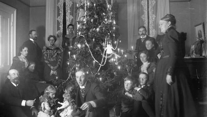 Schuette family Christmas, circa 1890