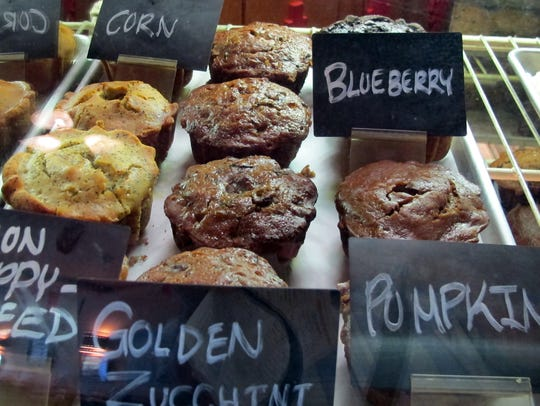 Muffins are a specialty at Sunburst Cafe, located between