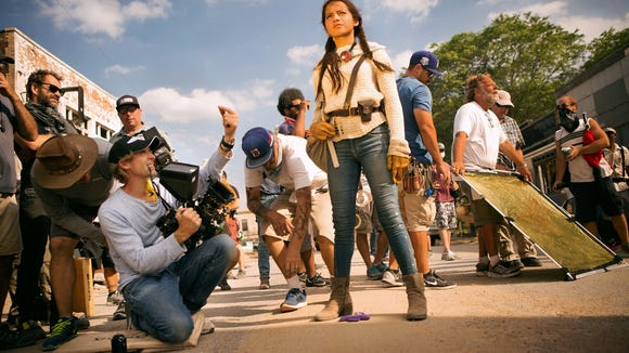 Isabela Moner on the set of 'Transformers: The Last