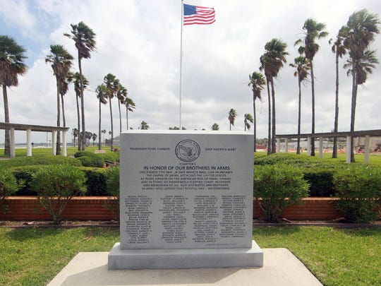 A Pearl Harbor memorial is located at Sherrill Park in downtown Corpus Christi.