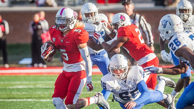 Junior wide receiver Corey Lacanaria will be a key part of Ball State's offense this fall.