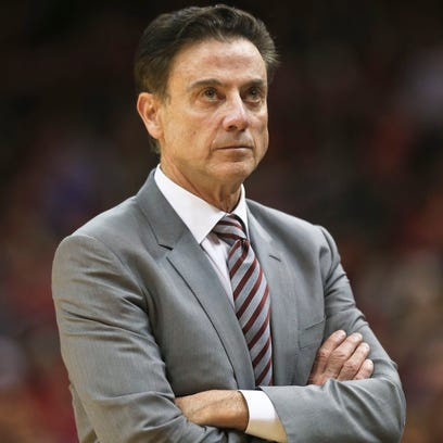 Louisville's Rick Pitino during the game against Boston