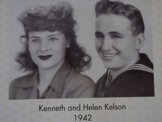 A photograph of Ken Kelson and his wife, Helen, from 1942.