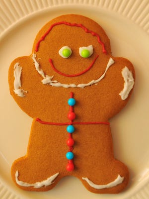 A classic gingerbread man cookie can spice up the holidays.