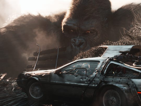 King Kong and the DeLorean from 'Back to the Future' are a few of the nostalgic figures in 'Ready Player One.'