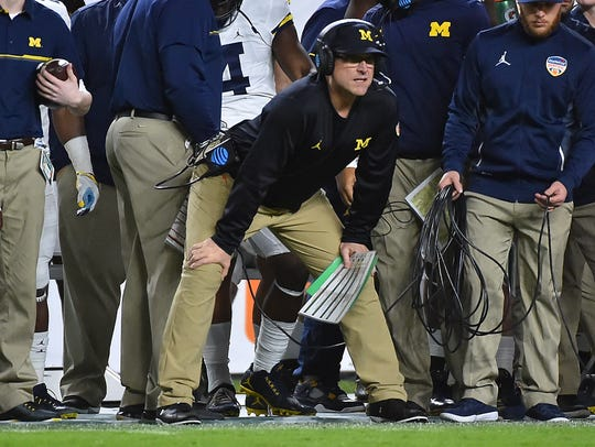 Jim Harbaugh has posted two 10-win seasons in two years