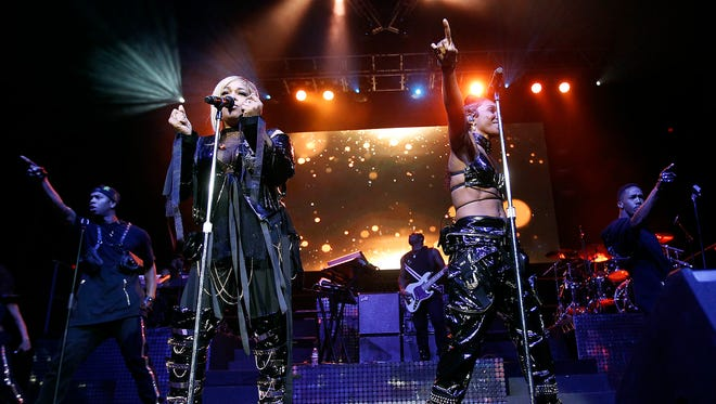 TLC perform as part of the I Love the 90's - The Party Continues Tour at Talking Stick Resort Arena in Phoenix on Saturday, July, 22, 2017.