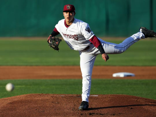 Kodi Medeiros, the Brewers' first-round pick from 2014, is pitching for the Wisconsin Timber Rattlers this season.