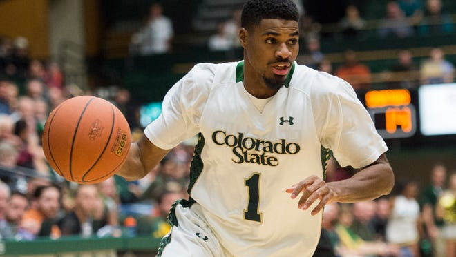 CSU guard Antwan Scott, a sixth-year senior who leads the team in scoring, drives for a basket during a Jan. 27 win over San Jose State at Moby Arena.