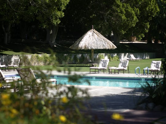 The pool area at the Two Bunch Palms Resort and Spa in Desert Hot Springs.  (Richard Lui The Desert Sun)