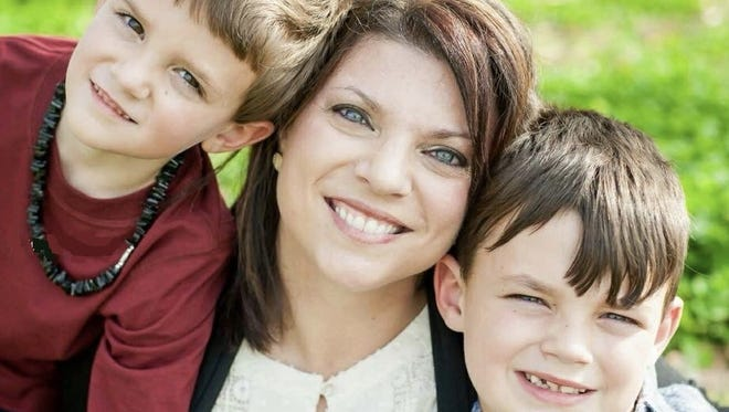 Amanda Durand and her sons, Brody (left) and Ethan.