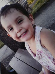 Aniya Damarise Zamora, 3, died in April 2013.