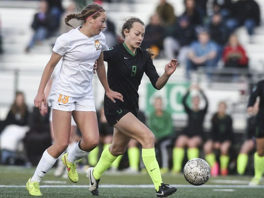 Fossil Ridge's Jaelin Howell, right, along with fellow SaberCat Sophia Smith have been named to the U.S. U-17 national team in an attempt to qualify for the World Cup.