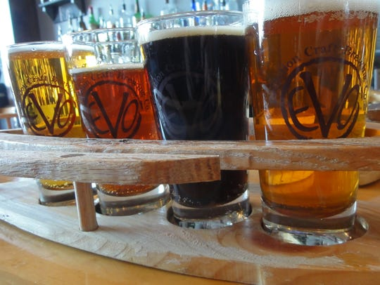 Evolution Craft Brewing Co. has a dozen beers on tap