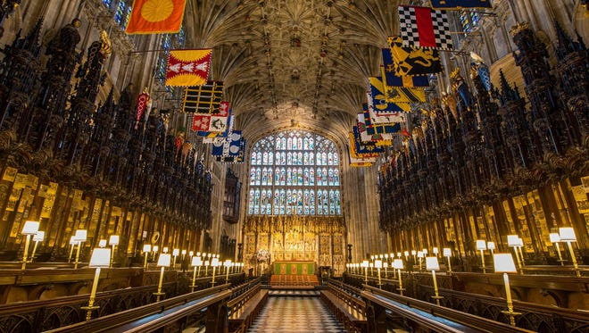 The inside of St. George's Chapel, where Prince Harry and Meghan Markle will hold their wedding ceremony.