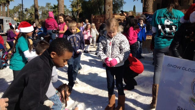 Fresh snow will be on hand at the Christmas in the Park event in Litchfield Park.