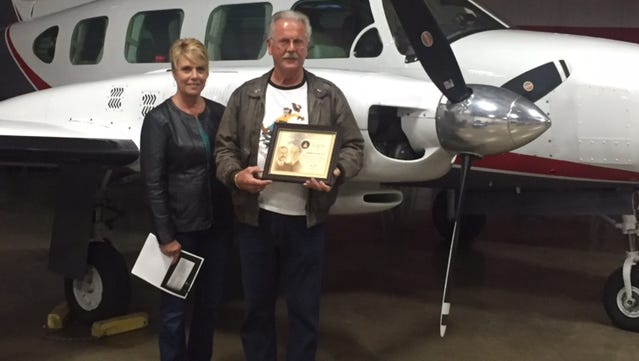 Retired Northwest Airline Senior Captain Don Kiel was awarded the Wright Brothers Master Pilot Award this week at an Aircraft Owners and Pilots Association Safety Seminar at the Manitowoc County Airport.