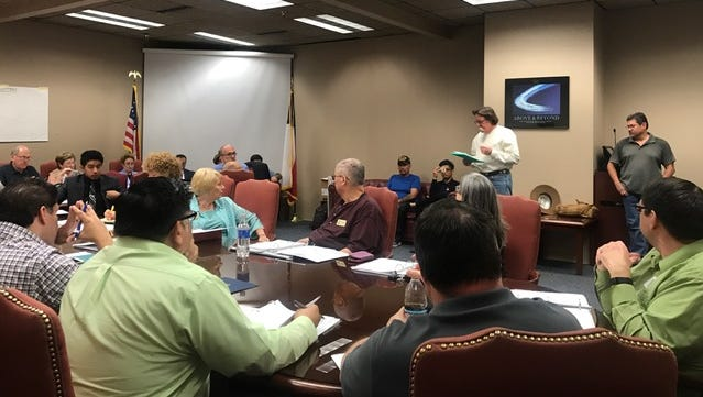 Former El Paso County Historical Commission Chairman Bernie Sargent talks to members of the commission during the public comment portion of its meeting Tuesday.