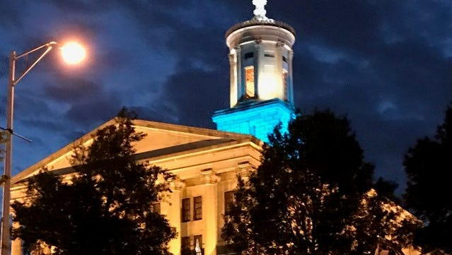 """State Sen. Ken Yager photographed the Tennessee State Capitol on Monday, May 8, 2017 after leaving for the day. Yager said, """"We have a beautiful Capitol. Oldest working Capitol in Nation."""""""