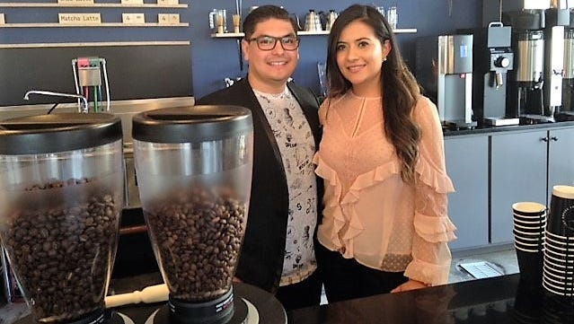 Pamela and Eric Azaeta have opened the District Coffee Co., coffee shop at 222 Texas Ave., and Stanton St., in Downtown El Paso.