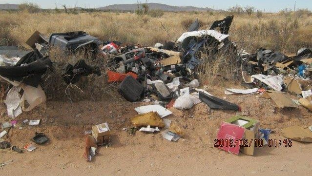 The Doña Ana County Illegal Dumping Partnership has removed 172 tons of trash from illegal dumpsites in the county in the past year.