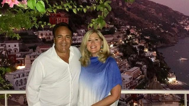 Stephen and Mary Jo Scofes during a recent visit to Italy's Amalfi Coast.