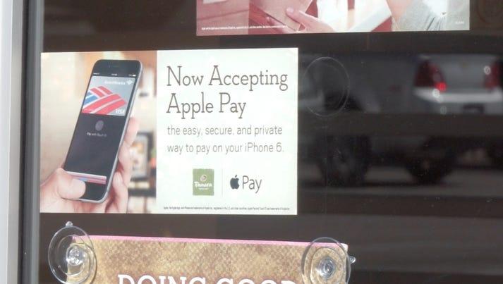Apple Pay sign at Panera Bread