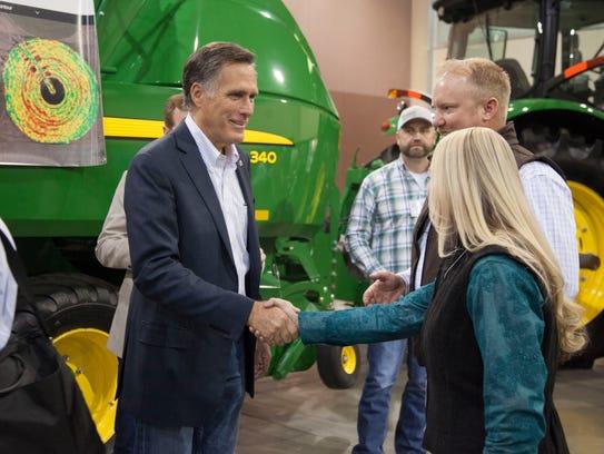 Mitt Romney meets with members of the Utah Farm Bureau