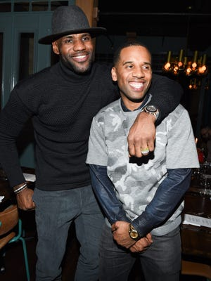 LeBron James and Maverick Carter attend the Beats In The Six And Drake Welcome Dinner.