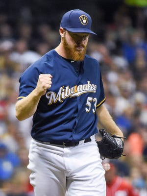 Brewers starter Brandon Woodruff gave up just one run in seven innings and struck out eight batters.
