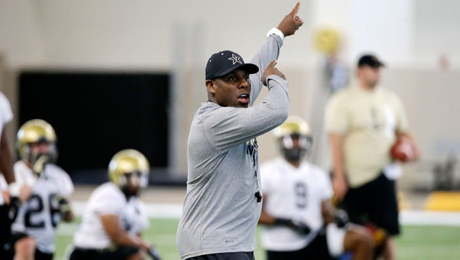 Vanderbilt head coach Derek Mason is using game film from his former Stanford defenses to teach his current players.