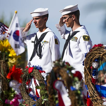 Memorial Day was observed at the National Memorial