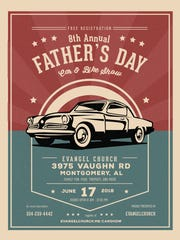 Evangel Church presents a Father's Day Car & Bike Show