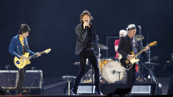 The Rolling Stones perform during their concert at Tokyo Dome in Tokyo.