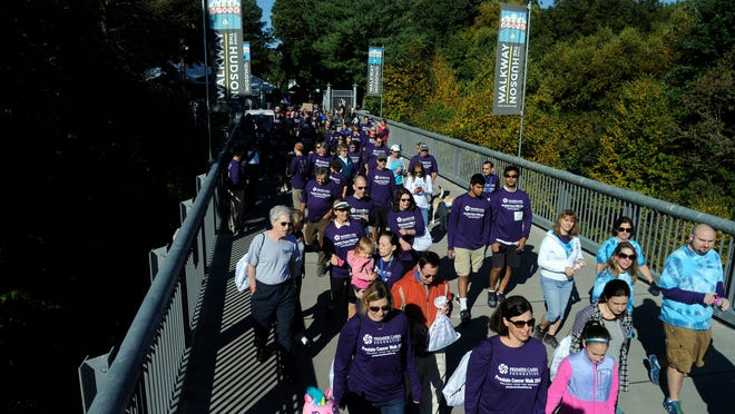 In this file photo, people participate in the Premier Cares Foundation Prostate Cancer Walk in 2014 on the Walkway Over the Hudson.
