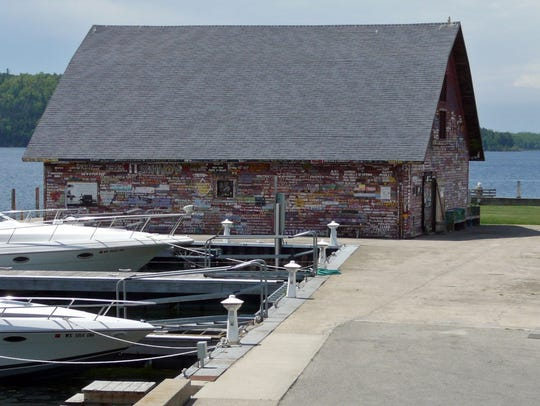 A historic warehouse on Ephraim's waterfront, now an
