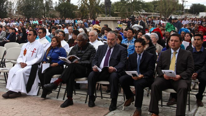 People gathered at Our Lady of Soledad Church in Coachella on Sunday for the annual Migration Mass.
