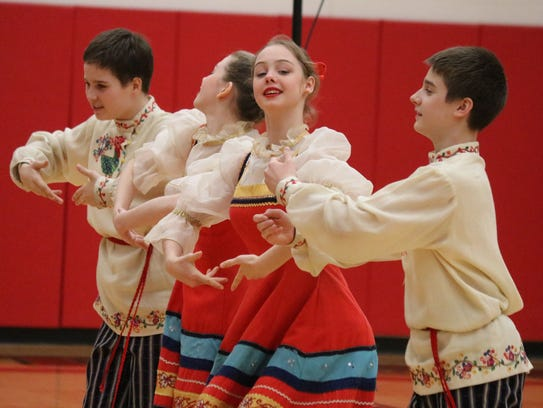 Liza Rybakova, 15, dancer with the Golden Gates, has