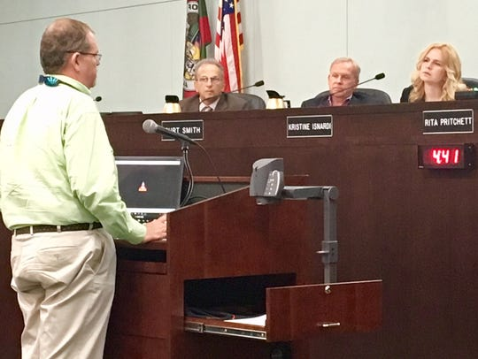 Ted Lund addresses the Brevard County Commission in