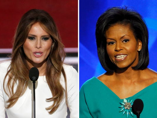 Malania Trump, Michelle Omaba speak during party conventions