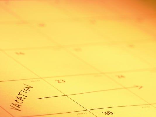 Calendar upcoming
